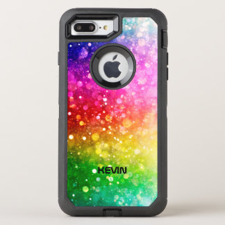 Colorful Bokeh Glitter Texture Pattern OtterBox Defender iPhone 7 Plus Case