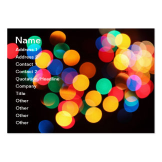 Colorful bokeh lights business card