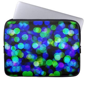 Colorful bokeh lights laptop sleeve
