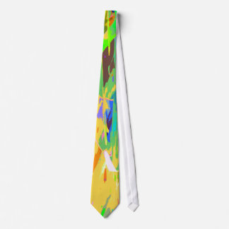 Colorful, bold, abstract print tie for women