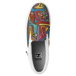 Colorful Bold Geometric Abstract Modern Art Printed Shoes