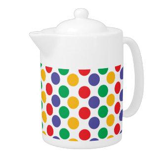 Colorful Bold Multicolored Polka Dot Pattern