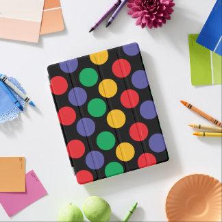 Colorful Bold Multicolored Polka Dot Pattern iPad Cover