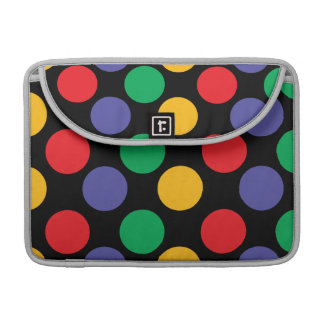 Colorful Bold Multicolored Polka Dot Pattern Sleeve For MacBook Pro