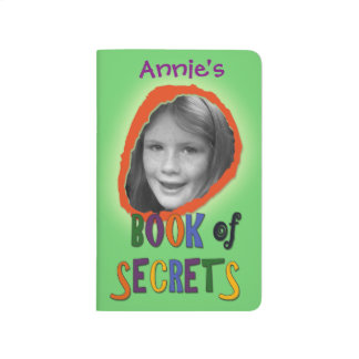 Colorful Book of Secrets Custom Photo and Name Journal