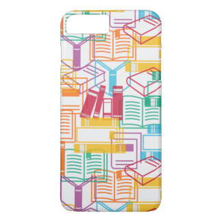 Colorful books binders pattern iPhone 7 plus case