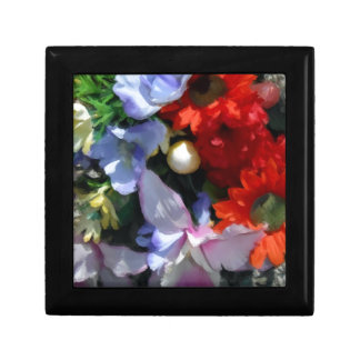 Colorful Boquet Small Square Gift Box