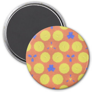 colorful boring pattern 7.5 cm round magnet