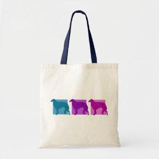 Colorful Borzoi Silhouettes Canvas Bag