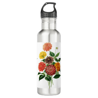 Colorful Botanical Flowers Bouquet 710 Ml Water Bottle