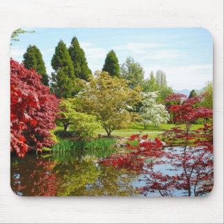 Colorful botanical garden park mousepad