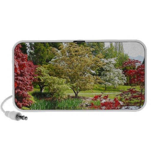 Colorful botanical garden park travel speaker