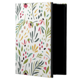 Colorful Botanical Leafs & Flowers Pattern GR2 iPad Air Case