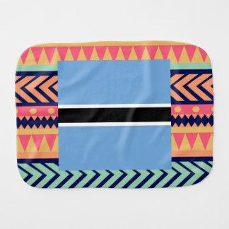 Colorful Botswana Flag Box Baby Burp Cloth