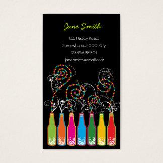 Colorful Bottles Bubbles Pop Fun Party Celebration Business Card