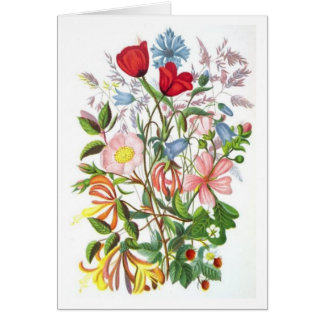 Colorful Bouquet Stationery Note Card