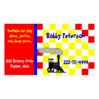 Colorful Boy s calling card Business Card Template