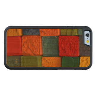 Colorful bricks carved cherry iPhone 6 bumper case