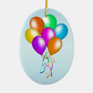 Colorful Bright Bunch of Balloons Christmas Ornament
