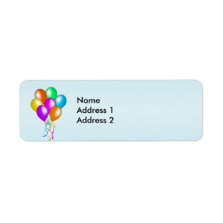 Colorful Bright Bunch of Balloons Return Address Label