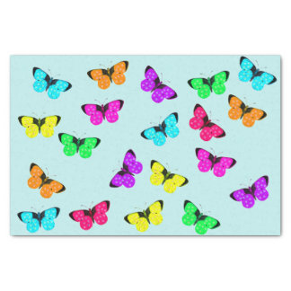 Colorful Bright Butterfly Fiesta Tissue Paper