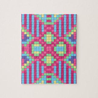 Colorful Bright Checkerboard Jigsaw Puzzle