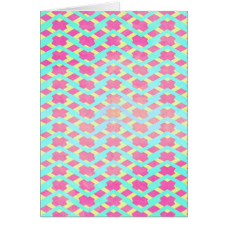 Colorful Bright Chevron Zig Zag Vintage Hot Pink Greeting Cards