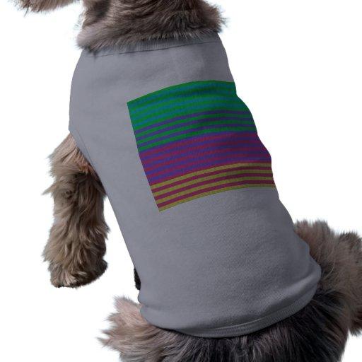 Colorful Bright Fabric Stripes Dog T-shirt