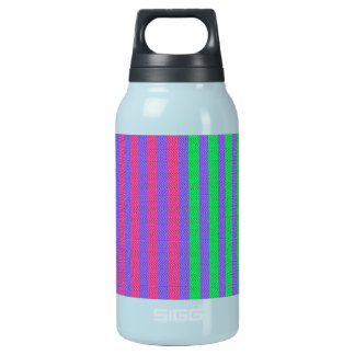 Colorful Bright Fabric Stripes Insulated Water Bottle