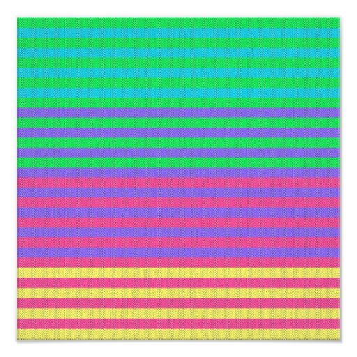 Colorful Bright Fabric Stripes Art Photo