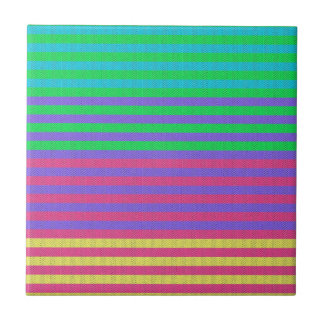 Colorful Bright Fabric Stripes Tile