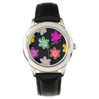Colorful bright flowers watch