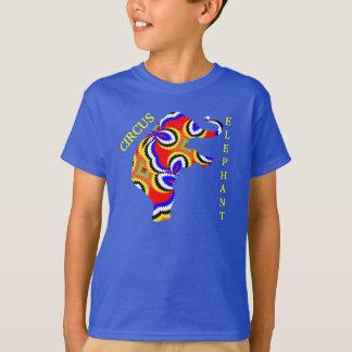 Colorful Bright Fun Whimsical Circus Elephant T-Shirt