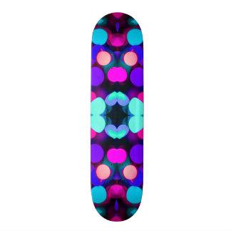 Colorful Bright Multicolor Bokeh Christmas Lights 19.7 Cm Skateboard Deck