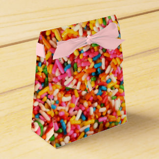 Colorful Bright Rainbow Sprinkles Favour Box
