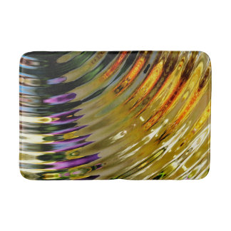 Colorful Bright Waves Bath Mat