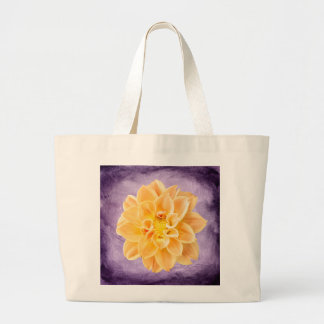 Colorful Bright Yellow Dahlia Flower Jumbo Tote Bag