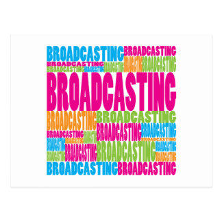Colorful Broadcasting Postcard