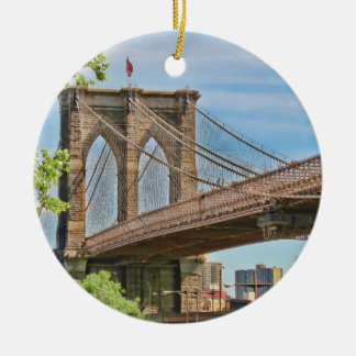 Colorful Brooklyn Bridge Christmas Ornament