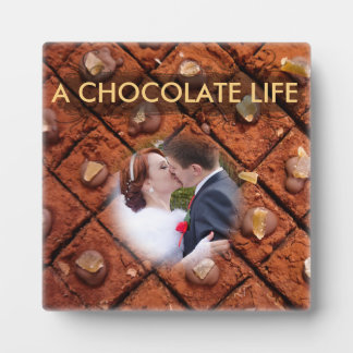 Colorful Brown Chocolat Cake - Wedding Kiss, Plaque