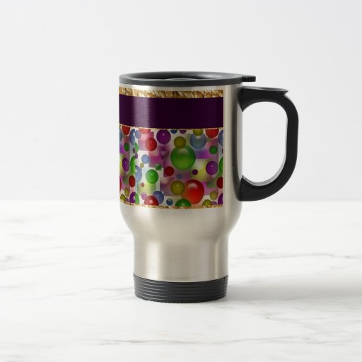 Colorful Bubbles And Squares Coffee Mug
