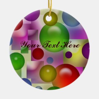 Colorful Bubbles Pattern Christmas Ornament