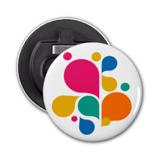 Colorful Bubbles Round Bottle Opener