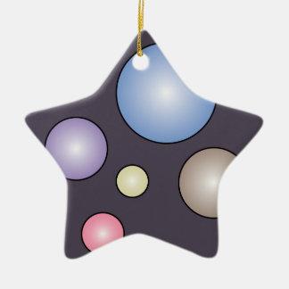 Colorful Bubbles Star Ornament