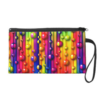 colorful bubbles wristlet
