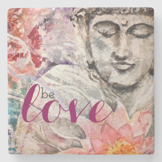 Colorful Buddha Love-Lotus Stone Coaster