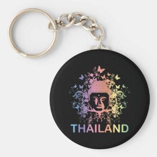 Colorful Buddha thailand Key Ring