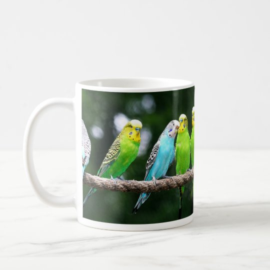 Colorful Budgies Coffee Mug