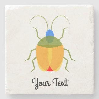 Colorful Bug Stone Beverage Coaster
