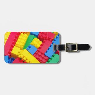Colorful Building Blocks Travel Bag Tag